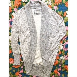 ANTHROPOLOGIE SATURDAY SUNDAY Lace Cardigan Small